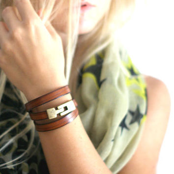 Wrap Bracelet in Dark Brown by makunaima on Etsy