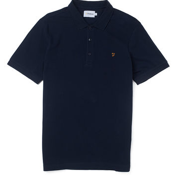 Farah Vintage Short Sleeve Pique Polo Shirt