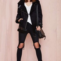 Mustang Faux Leather Jacket