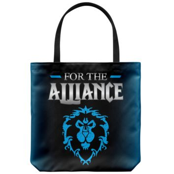 """World of Warcraft """"For the Alliance"""" Tote Bag"""