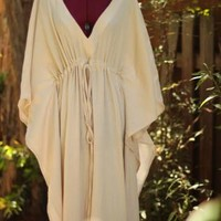 Caftan Dress in Natural Cotton Gauze