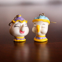 Disney Beauty and the Beast Mrs. Potts and Chip Earrings