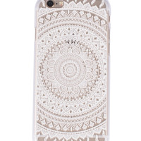 White Full Mandala Henna Iphone 6 case