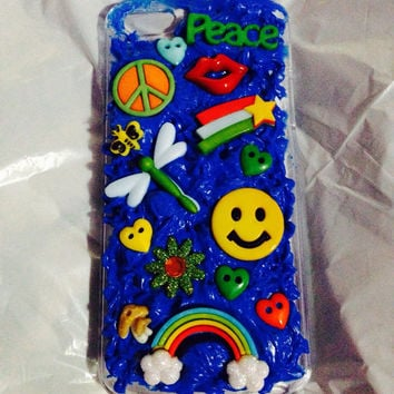 Kawaii Blue decoden Iphone 5S case