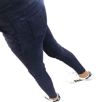 DCCKH6B 2016 Women Jeans Leggings Skinny Slim Thin High Elastic Waist Washed Jeans Jeggings Pencil Pants Denim Leggings For Women G523