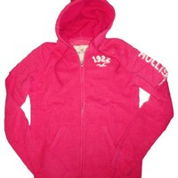 Women's / Girl's Hollister Hooded Sweat Jacket Hoodie Pacific Dark Pink Size Large