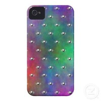 Plasma Sphere Polka Dots Pattern Case-Mate iPhone 4 Case from Zazzle.com