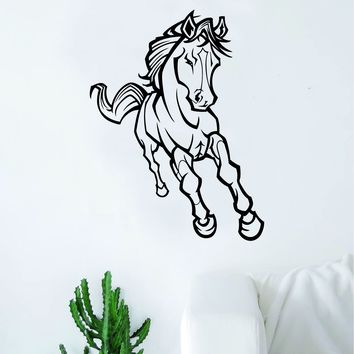 Horse V8 Design Animal Wall Decal Home Decor Room Bedroom Sticker Vinyl Art Horseback Riding Kids Teen Baby