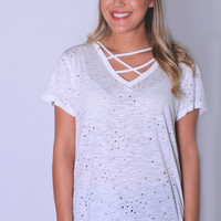 Shred Lightly Distressed Top