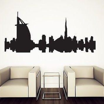 Wall Sticker Vinyl Silhouette Beautiful City Dubai Hotel BURJ AL ARAB Unique Gift (n054)