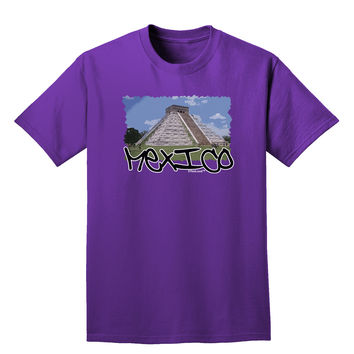 Mexico - Mayan Temple Cut-out Adult Dark T-Shirt