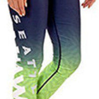 Seattle Seahawks Womens Gradient Print Leggings