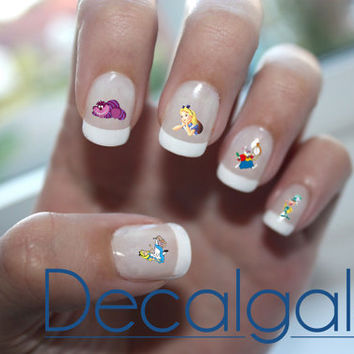 Disney Alice in Wonderland Nail Art - Nail Art Decals - Waterslide Decals - Waterslide Paper
