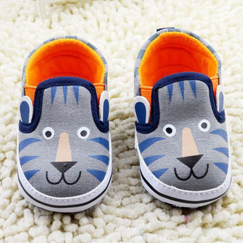 Grey Lion Baby Boy Shoes