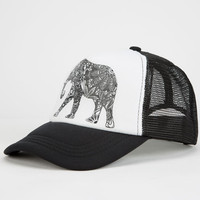 Elephant Womens Trucker Hat White/Black One Size For Women 25124016801