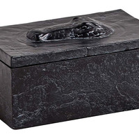 Peaking Alligator-Head Box, Black, Boxes