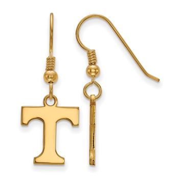 NCAA 14k Gold Plated Silver University of Tennessee SM Dangle Earrings