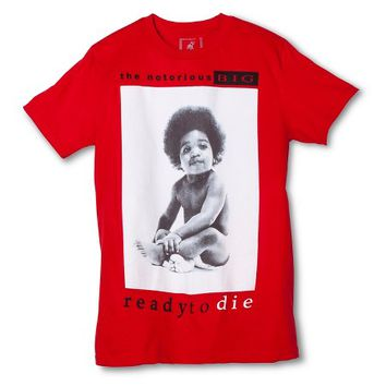 Men's S Biggie Album Cover T-Shirt Red : Target