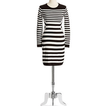 Calvin Klein Long Sleeved Striped Dress