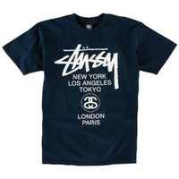 Stussy World Tour T-Shirt - Men's at CCS