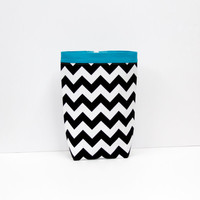 Car Trash Bag CHEVRON BLACK Riley Blake, Women, Men, Car Litter Bag, Car Accessories, Auto Bag, Car Organizer