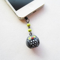 Spooky Owl Iphone 5/4/3 Headphone Plug/Dust Plug - Ready to Ship Cellphone Accessories