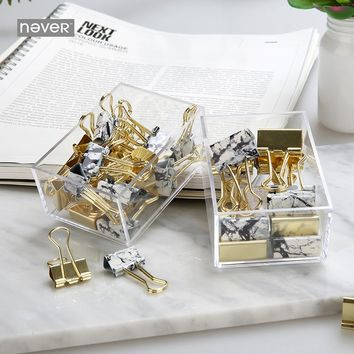 Marble Binder Clips Gold Metal Clips