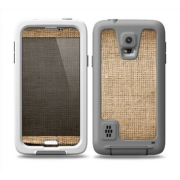 The Woven Fabric Over Aged Wood Skin for the Samsung Galaxy S5 frē LifeProof Case