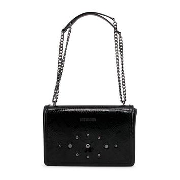 Love Moschino Black Patent Leather Shoulder Bag