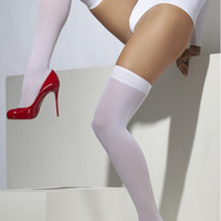 Fever Lingerie Knee High Stockings  White  Fv25937
