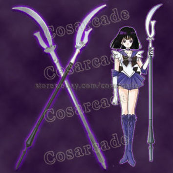 Sailor Moon Saturn Hotaru Tomoe Wand Staff Silence Glaive Satur Cosplay Prop 75""