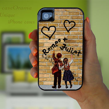 Couple iPhone 4/4S 5 tough case - Love iPhone 4/5 hard case - Wedding, Name, Personalized 2 piece rubber lining case