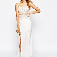 Ginger Fizz Affair Of The Heart Maxi Dress With Lace Bodice