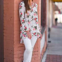 For The Love Of Spring Tunic, Off White