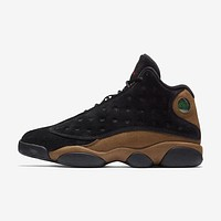 Air Jordan 13 Retro Olive Black/True Red-Light Olive AJ13 Sneakers