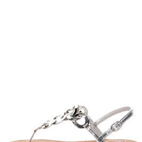 Naughty Monkey Legendary Silver Metal Chain Thong Sandals