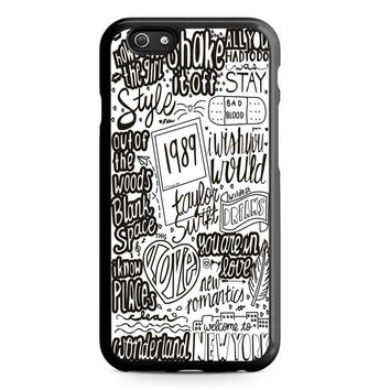 TAYLOR SWIFT LYRIC COLLAGE quotes Iphone 5 Case