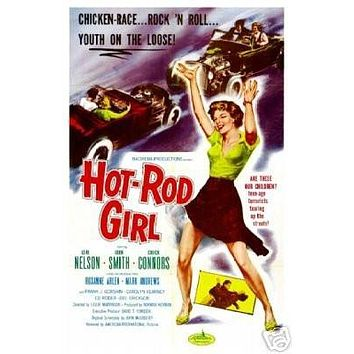 Hot-rod Girl Movie Poster - Rare Vintage