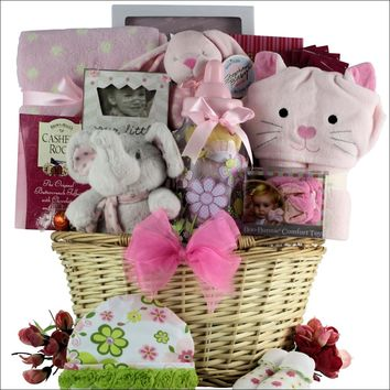 Congratulations Baby!: Baby Girl Gift Basket