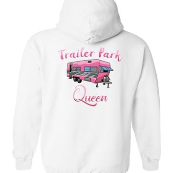 Ladies/Junior's Funny Trailer Park Queen Zipper Hoodie