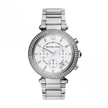 Michael Kors Parker Stainless Steel Ladies Chronograph Watch