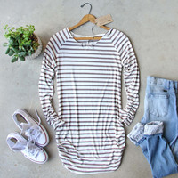 Sand Stripes Tunic Tee