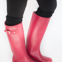 Singin' In The Rain- Red Rainboots