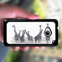 Htc one case,giraffe,HTC one M7 case,HTC one X case,HTC one S case,case edge in white or black plastic,the image color never change