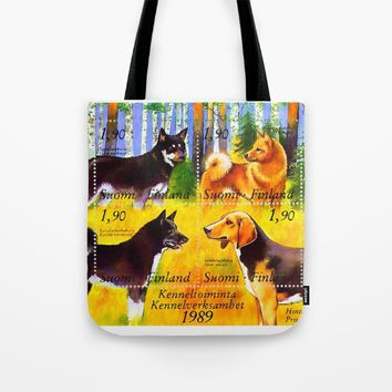 100 Years Union of Finnish Dog Breeders Tote Bag by lanjee