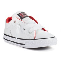 Converse All Star Street Sneakers for Toddler Boys (White)