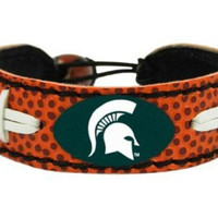 NCAA Michigan State Spartans Classic Football Bracelet
