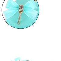 Bamboo Hawaii07 Seafoam Rhinestone Bow Metal Jelly Sandal and Shop Shoes at MakeMeChic.com
