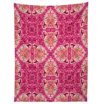 Chobopop Pink Panther Pattern Tapestry