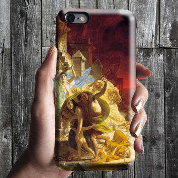 The Last Day of Pompeii - Karl Briullov iPhone Case 6, 6S, 6 Plus, 4S, 5S. Phone Cell. Art Painting. Gift Idea Anniversary. Gift for him/her